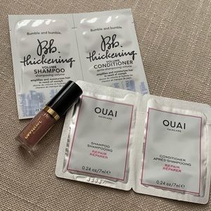 Other - Shampoo and conditioner sample w/ Tarte lipgloss